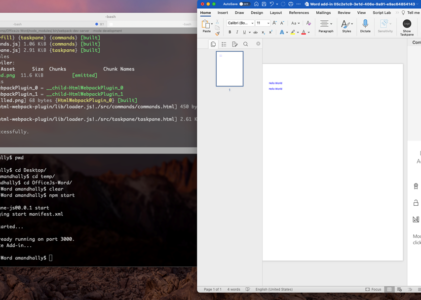 Create your First MS Office JS  Word add-ins